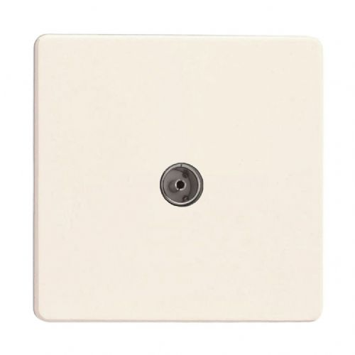 Varilight XDY8S.PD Screwless Primed 1 Gang Co-Axial TV Socket